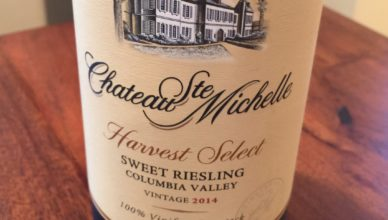 Chateau Ste Michelle Harvest Select Sweet Riesling 2014 Bottle