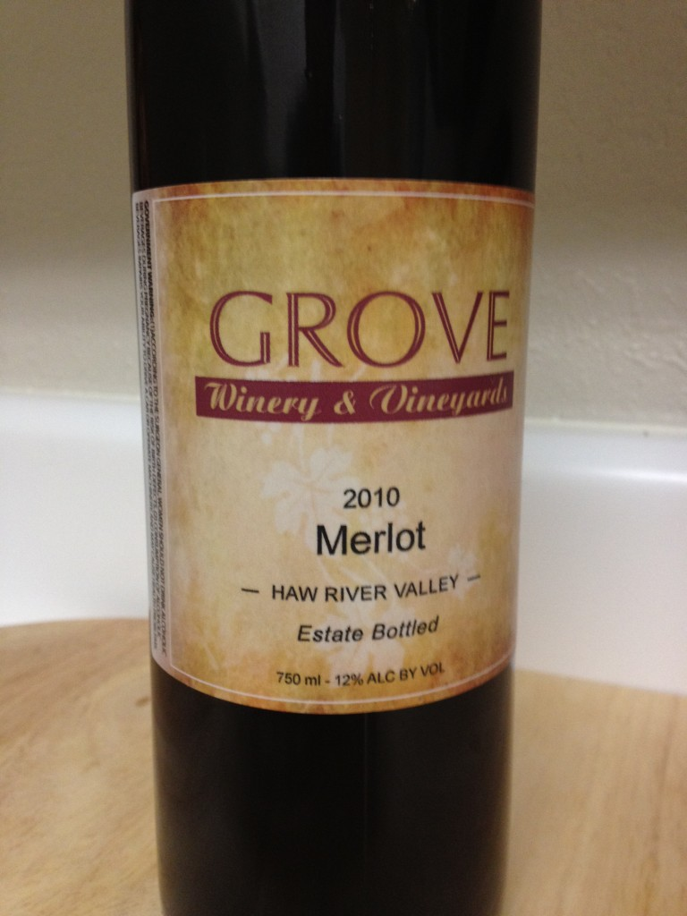 2010 Grove Winery Merlot