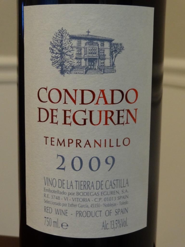 2009 Condado De Eguren Tempranillo