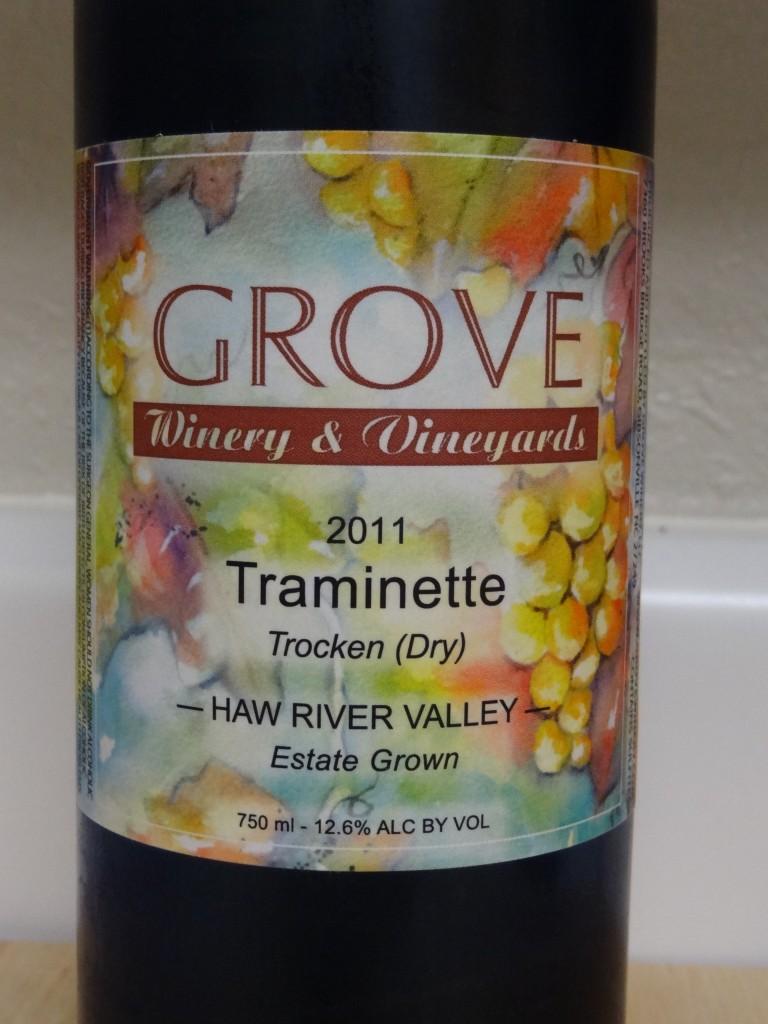 2011 Grove Winery Traminette
