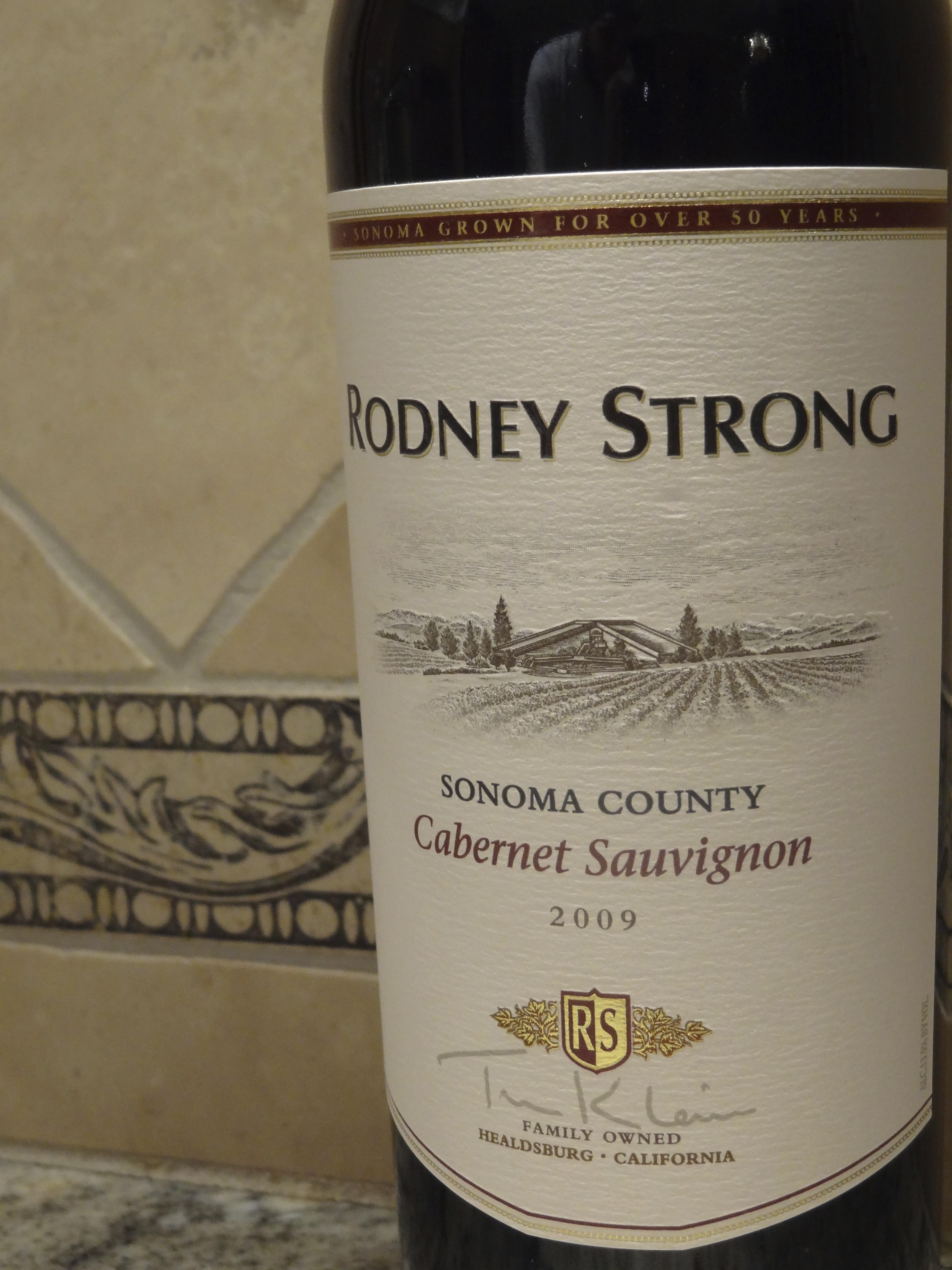 2009 Rodney Strong Sonoma County Cabernet Sauvignon