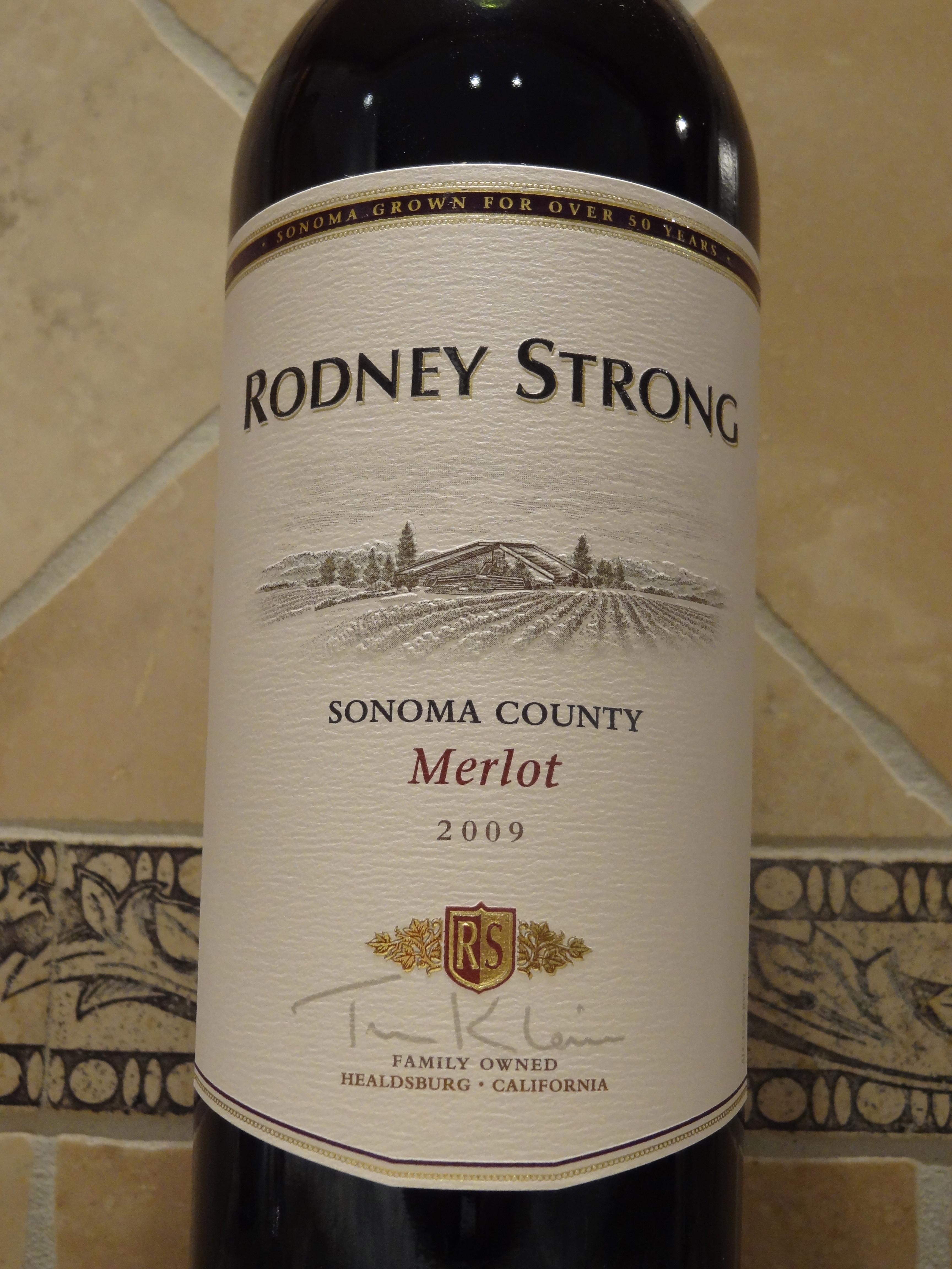 2009 Rodney Strong Sonoma County Merlot