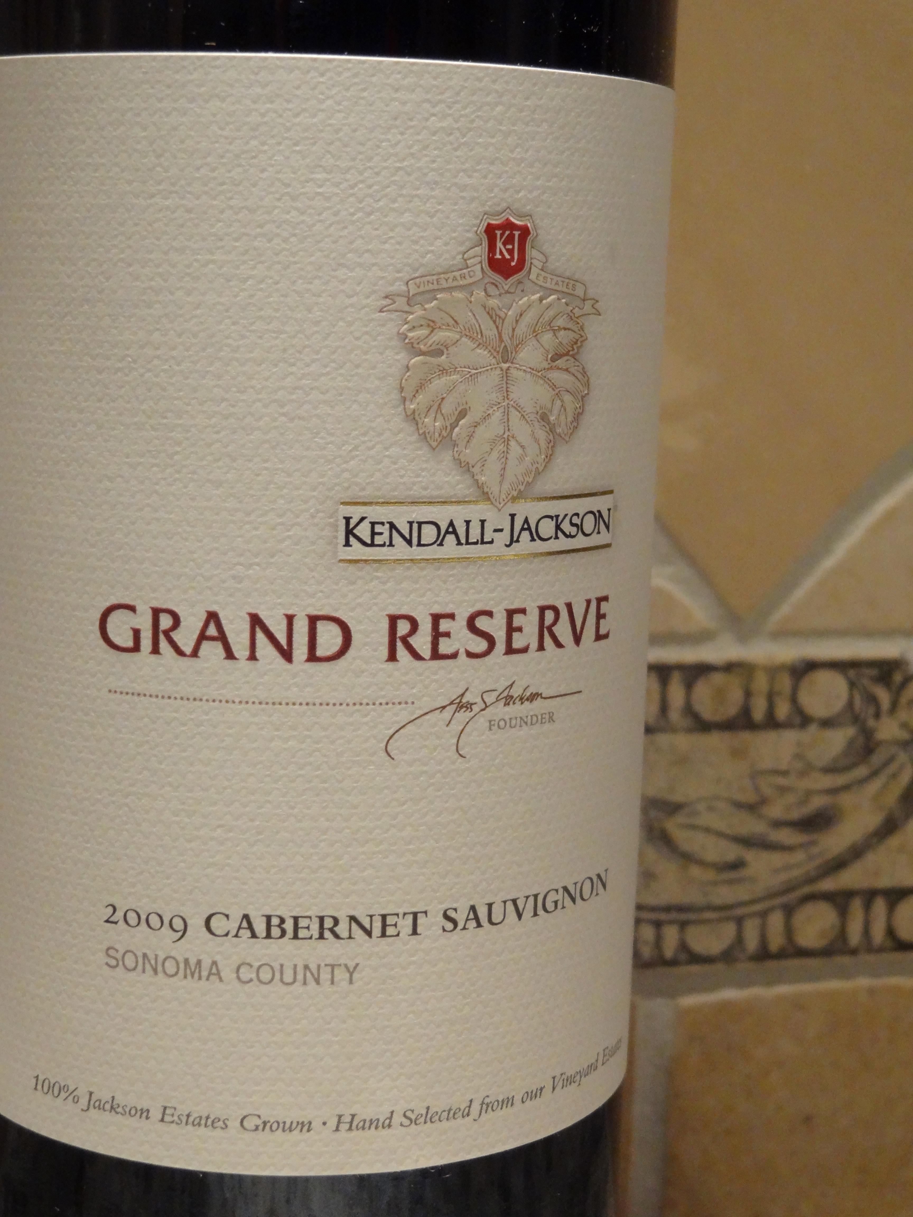 2009 Kendall-Jackson Grand Reserve Cabernet Sauvignon