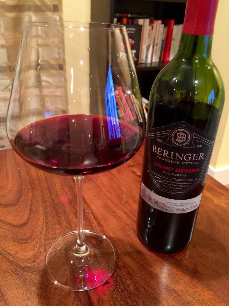 Beringer Founders Estate Cabernet Sauvignon 2013 First Pour Wine