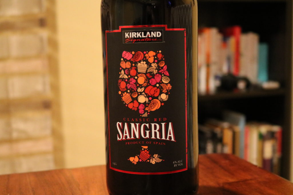 Kirkland Sangria Bottle